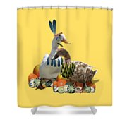 Thanksgiving Indian Ducks Shower Curtain