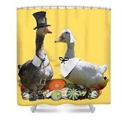 Thanksgiving Pilgrim Ducks Shower Curtain