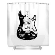 Fender Stratocaster 54 Shower Curtain by Mark Rogan