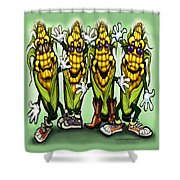 Corn Party Shower Curtain