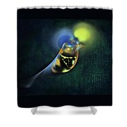 Horus Egyptian God Of The Sky Shower Curtain by Menega Sabidussi