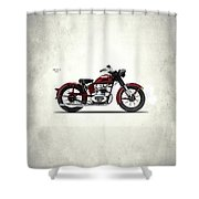 Indian Brave 1951 Shower Curtain