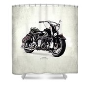 Indian Chief Roadmaster 1953 Shower Curtain