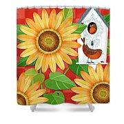 Sunflower Surprise Shower Curtain