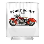 Indian Sport Scout 1940 Shower Curtain