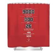 Michael Jordan Quote Sports Inspirational Quotes Poster Shower Curtain
