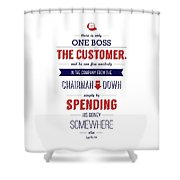 Sam Walton Quotes Poster Shower Curtain