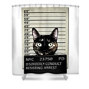Kitty Mugshot Shower Curtain