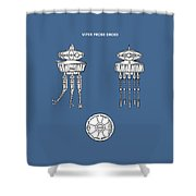 Star Wars - Droid Patent Shower Curtain