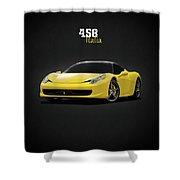 The Ferrari 458 Shower Curtain
