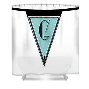 Pennant Deco Blues Banner Initial Letter G Shower Curtain
