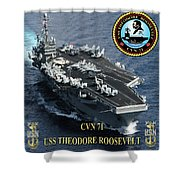 Cvn-71 Uss Theodore Roosevelt Shower Curtain
