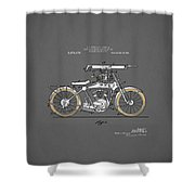 Motorcycle Patent 1918 Shower Curtain