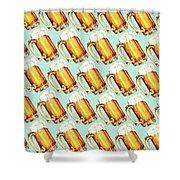 Beer Pattern Shower Curtain