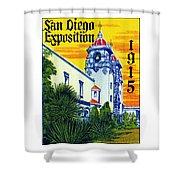 1915 San Diego Exposition Shower Curtain