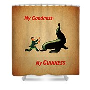 My Goodness My Guinness 1 Shower Curtain