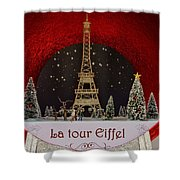 Christmas In Paris Shower Curtain