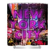 New York City - Color Shower Curtain