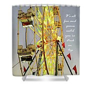 Wheel Of Fortune With Phrase Shower Curtain