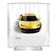 Lamborghini Huracan Shower Curtain by Mark Rogan