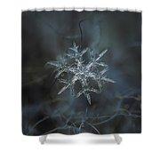Snowflake Photo - Rigel Shower Curtain by Alexey Kljatov