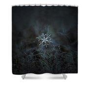 Snowflake Photo - Rigel Shower Curtain