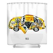 Porsche 911 1973 Shower Curtain