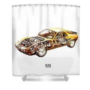 Porsche 928 1980 Shower Curtain
