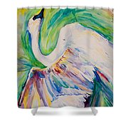 Beauty And Grace Swan Shower Curtain