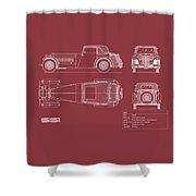 Jaguar Ss1 Blueprint Shower Curtain