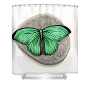 Mito Awareness Butterfly- A Symbol Of Hope Shower Curtain