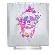 Cool And Trendy Pink Watercolor Skull Shower Curtain