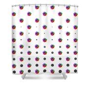 Rainbow Rose 01 Shower Curtain