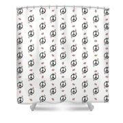 Peace And Daisies Shower Curtain