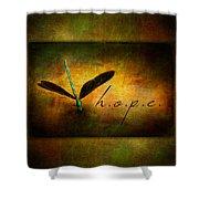 Hope Ebony Jewel Wing Damselfly On Golden Sunlight Dragonfly Shower Curtain