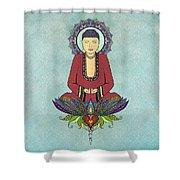 Electric Buddha Shower Curtain