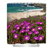 Cliff Flowers Shower Curtain