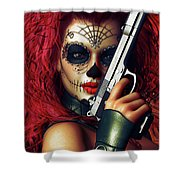 Sugar Doll Long Night Of The Dead Shower Curtain