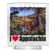 I Love Appalachia - Coon Gap Holler Country Farm Landscape 1 Shower Curtain