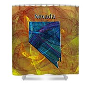 Nevada Map Shower Curtain