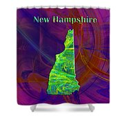New Hampshire Map Shower Curtain