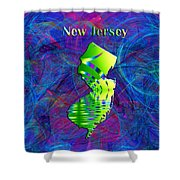 New Jersey Map Shower Curtain