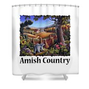 Amish Country - Coon Gap Holler Country Farm Landscape Shower Curtain