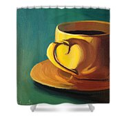 Yellow Java Shower Curtain