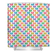 Colorful Pop Art Macarons Shower Curtain