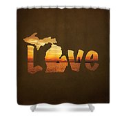 Love Lake Michigan Shower Curtain