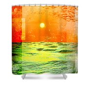 Christopher Columbus 1492 Shower Curtain by Phil Perkins