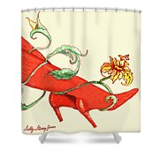 Red Boots Shower Curtain