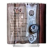 Chapel Door - Verse Shower Curtain