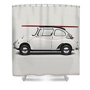 1969 Subaru 360 Young Ss - Creme Shower Curtain